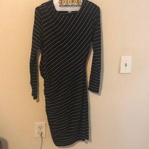 Banana Republic black and white striped dress sz m
